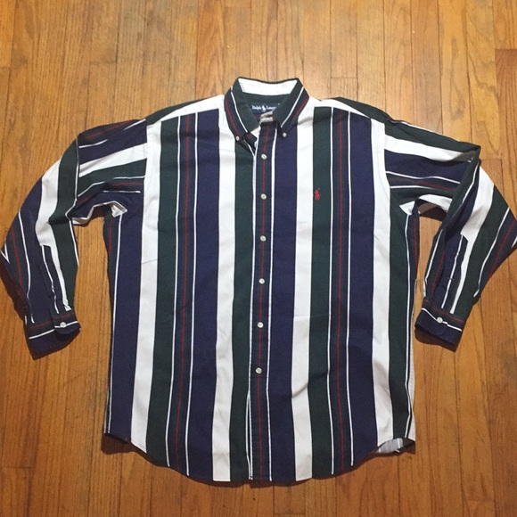 ed43632a 90s Polo vertical striped button up. M_5a8b80c350687c97addeebe4. Other  Shirts you may like. Polo Ralph Lauren ...
